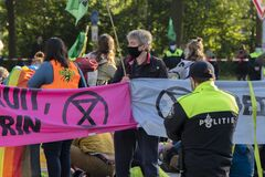 Police At Work During The Rebellion Extinction Demonstration At Amsterdam South The Netherlands 21-9-2020