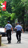 Police in Zurich stock image