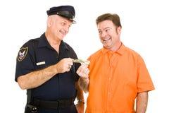 Policeman Accepts Bribe Stock Photography
