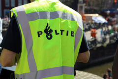 Policeman in Amsterdam Stock Photography