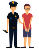 Policeman arrested the offender Stock Images