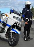 Policeman biker Stock Images