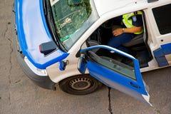 Policeman in car Stock Photos