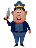Policeman cartoon Royalty Free Stock Images