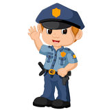 Policeman cartoon Royalty Free Stock Image