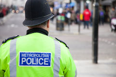 Policeman in Central London Stock Photo