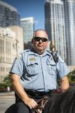 Policeman in Chicago city stock photography