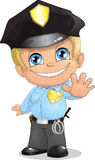 Policeman. The child in a suit of the police officer royalty free illustration