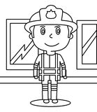 Policeman coloring page Stock Photography