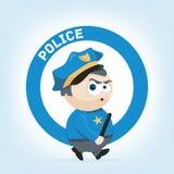 Policeman. Cute cartoon illustration of a policeman Royalty Free Stock Photos