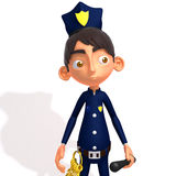 Policeman 3d illustration. Over white background Royalty Free Stock Photos