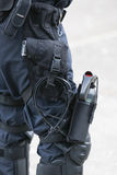 Policeman with equipment Stock Photography