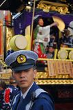 Policeman at festival Stock Image