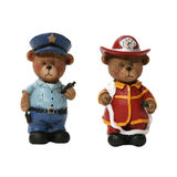 Policeman and Fireman Bears Royalty Free Stock Photography