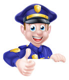 Policeman Giving Thumbs Up Royalty Free Stock Photography