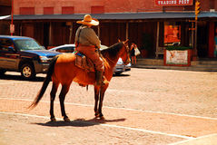 Policeman on Horseback Royalty Free Stock Images