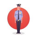 Policeman Icon Male Cop Guard Security Stock Photography