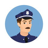 Policeman icon Stock Photos