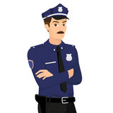 Policeman. Isolated on white illustration. Contains EPS10 and high-resolution JPEG Stock Photography