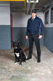 Policeman and K9 unit Stock Photo