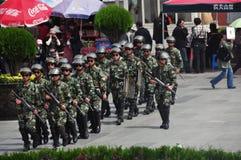 Policeman at the Lhasa ,Tibet Royalty Free Stock Photos