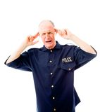 Policeman looking frustrated Royalty Free Stock Images