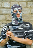 Policeman in mask 6 Stock Photo
