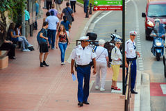 Policeman in Monte Carlo, Principality of Monaco Royalty Free Stock Image