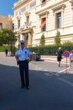 Policeman in Monte Carlo, Principality of Monaco Stock Photos