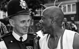 Policeman at Notting Hill Carnival Royalty Free Stock Images