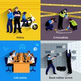 Policeman People Square Concept Stock Photos