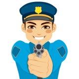 Policeman Pointing Gun Stock Photos