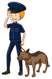 Policeman and police dog Stock Photography