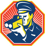Policeman Police Officer Speed Camera Radar Royalty Free Stock Photos