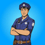 Policeman pop art style vector illustration Royalty Free Stock Photography