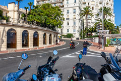 Policeman on the roadway in Monte Carlo, Monaco. Royalty Free Stock Image