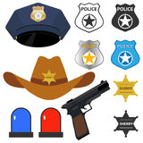 Policeman`s accessories Royalty Free Stock Photo