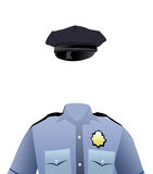 Policeman's uniform Royalty Free Stock Photography
