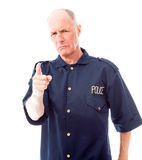 Policeman scolding somebody Royalty Free Stock Images