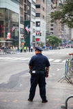 Policeman securing the New York City Labor Day Parade Stock Photo