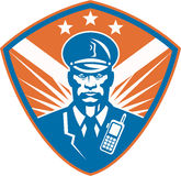 Policeman Security Guard Police Officer Crest Stock Image