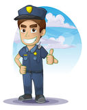 Policeman with separated layers Stock Photography