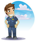 Policeman with separated layers Royalty Free Stock Photo