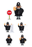 Policeman set Royalty Free Stock Photography