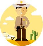 Policeman sheriff in uniform Stock Photo