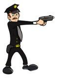 Policeman shooting Stock Photography