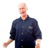 Policeman shouting in frustration Stock Photography