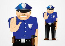 Policeman showing stop gesture Royalty Free Stock Image