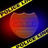 Policeman sign. And police line Stock Photography