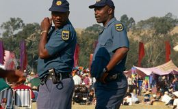 Policeman in South Africa Royalty Free Stock Photo